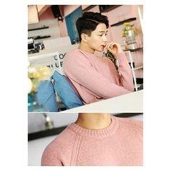 HOTBOOM - Crew-Neck Wool Blend Sweater