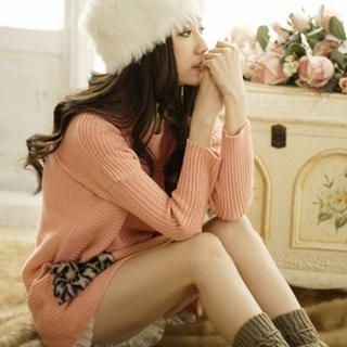 Tokyo Fashion - Leopard-Print Pocket Knit Tunic
