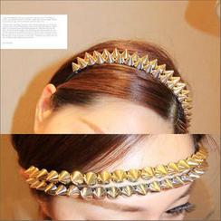 Clair Fashion - 時尚穿搭配件龐克鉚釘髮箍