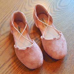 BOOM Kids - 童装真麂皮多带平跟鞋