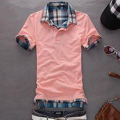 Fireon - Check Short-Sleeve Polo Shirt