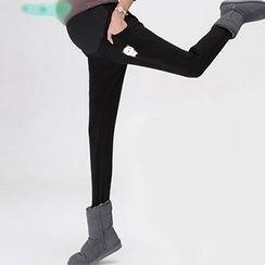 Cybele - Maternity Print Fleece-Lined Leggings