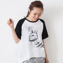 D.P-Shop - Rabbit-Print T-Shirt