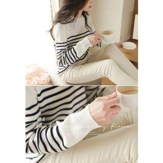 MyFiona - Round-Neck Striped Knit Top