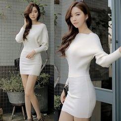 Clospace - Long-Sleeve Knit Dress