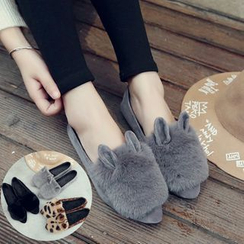 BARCA - Furry Pointy Flats