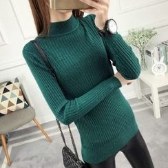 anzoveve - Mock Neck Sweater