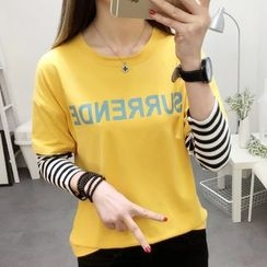 Sienne - Long-Sleeve Mock Two Piece T-Shirt