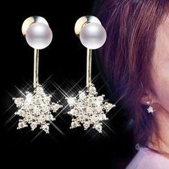 Nanazi Jewelry - Rhinestone Snowflake Ear Jacket