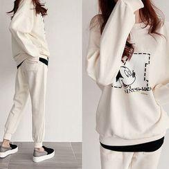 NIPONJJUYA - Set: Mickey Mouse Cotton Sweatshirt + Sweatpants