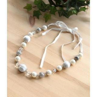 Petit et Belle - Oversized Faux Pearl Beaded Necklace
