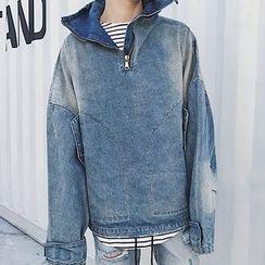 Mr. Wu - Oversized Denim Pullover