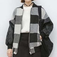 Heynew - 格纹夹棉外套