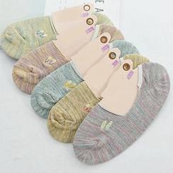 MITU - 純棉硅膠半包薄淺口隱形船襪