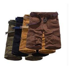 Hansel - 纯色工装短裤