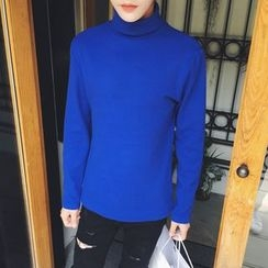 Soulcity - Turtleneck Long-Sleeve T-Shirt