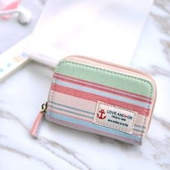 SUPER LOVER - Canvas Zip Card Wallet