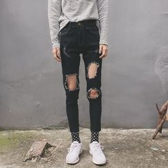 ever after - Ripped Slim Fit Jeans
