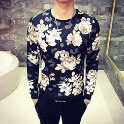 MEING - Long-Sleeve Floral Top