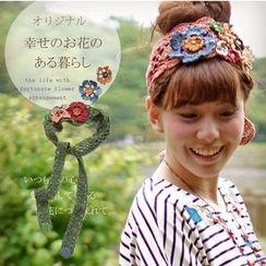 11.STREET - Rosette Crochet Headband