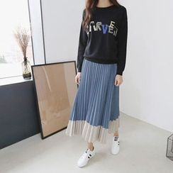 Hello sweety - Studded Lettering Sweatshirt