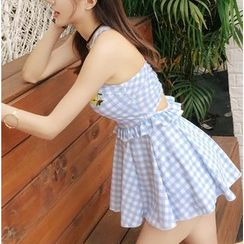 Jumei - Gingham Swimdress