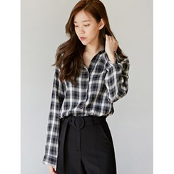 FROMBEGINNING - Long-Sleeve Check Shirt