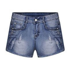 GRACI - Distressed Denim Shorts