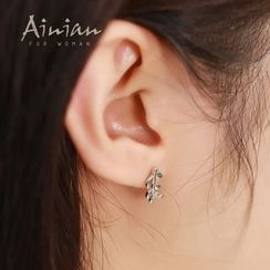 AINIAN - 925 Sterling Silver Non Matching Leaf Earrings