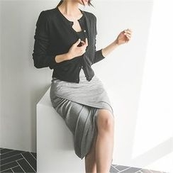 ERANZI - Wrap-Front Long Skirt