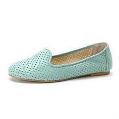 MODELSIS - Genuine Sheepskin Perforated Slip-Ons
