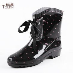 Rivari - Lace-Up Short Rain Boots