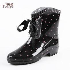 利達妮 - 繫帶短雨靴