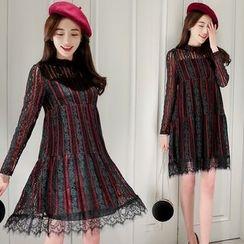 Romantica - Striped A-Line Dress
