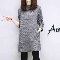 lilygirl - Textured Long-Sleeve Tunic