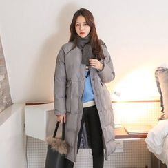 PPGIRL - Round-Neck Padded Jacket With Scarf