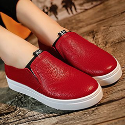 Honey Honey - Faux Leather Slip Ons