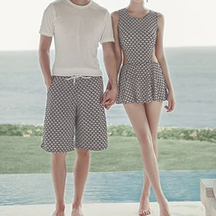 Moonrise Swimwear - Couple Matching Patterned Swimsuit / Swim Shorts