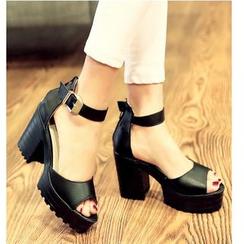 TULASI - Chunky Heel Platform Sandals