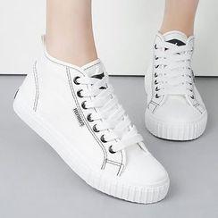 Renben - High-top Canvas Sneakers