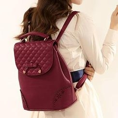 Axixi - Faux-Leather Quilted Backpack