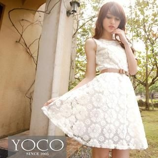 Tokyo Fashion - Sleeveless Lace Dress
