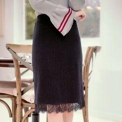 Tokyo Fashion - Lace Knit Pencil Skirt