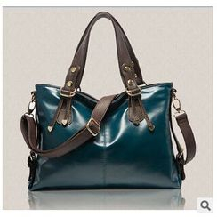 LineShow - Faux Leather Tote with Strap