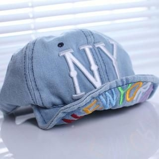 Cuteberry - Embroidered Denim Baseball Cap