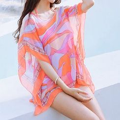 Little Dolphin - Set: Ruffle Wrap Bikini + Beach Cover-Up Dress