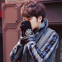 Fireon - 雪花针织手套
