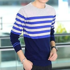 Izme - Striped Knit Pullover
