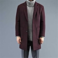 THE COVER - Wool-Blend Single-Breasted Coat
