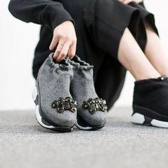 VIVIER - Rhinestone-Detail Platform Sneakers
